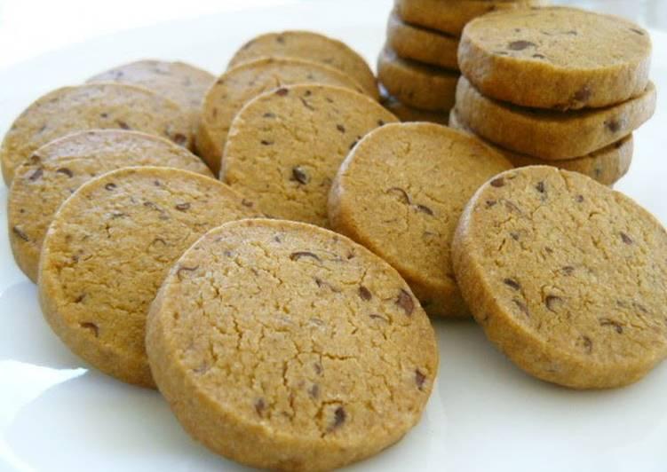 5 Minute Recipe of Fall Crispy Kinako Adzuki Cookies