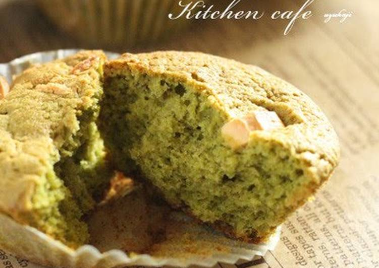 Recipe of Any-night-of-the-week White Chocolate × Matcha Muffins