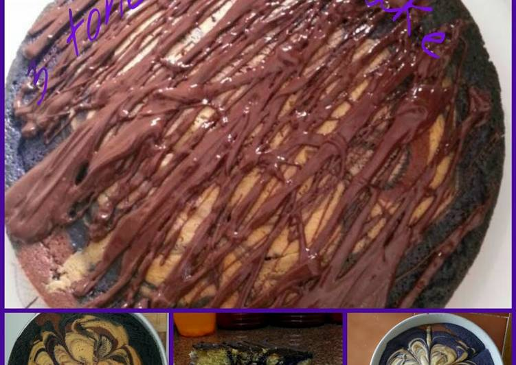 What is Dinner Ideas Vegan 3 tone marble cake