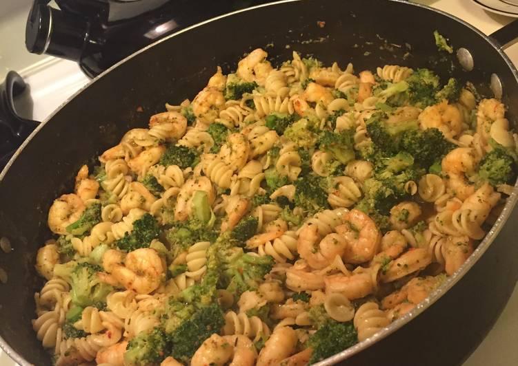Shrimp Scampi With Broccoli