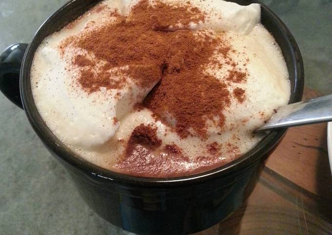 Coffee with cinnamon and whipped cream
