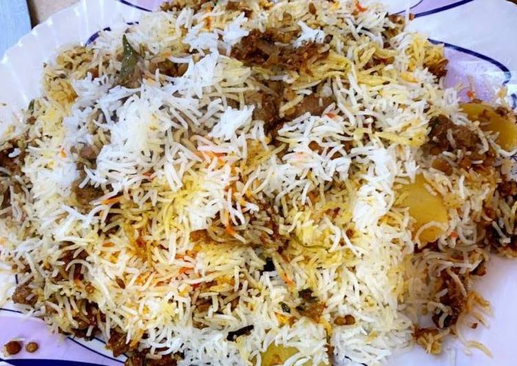 Old Fashioned Dinner Easy Royal Masoor keema pulao