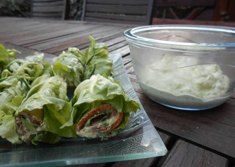 Façon la plus simple Faire Appétissant Wraps de salade au jambon#healthy