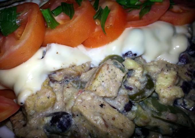 Recipe of Gordon Ramsay high protien cheesy chicken