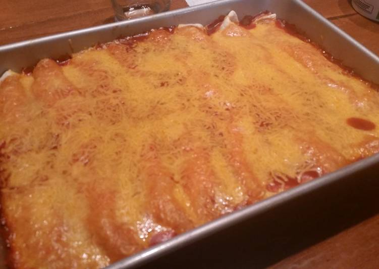 25 Minute Steps to Prepare Any Night Of The Week Chicken Enchiladas