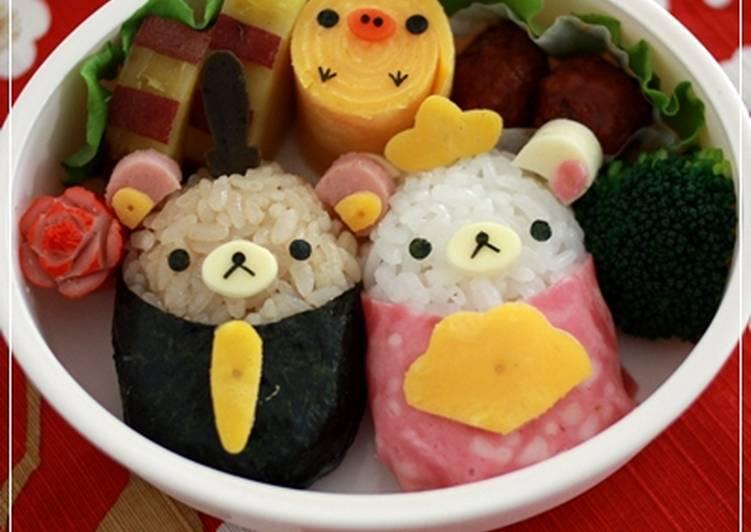 Recipe of Favorite Hinamatsuri Charaben Rilakkuma Hina Dolls