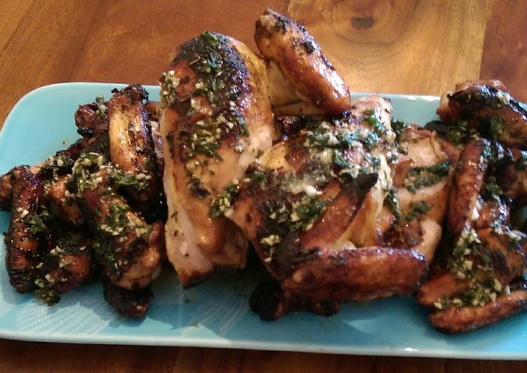 Steps to Prepare Favorite Garlic lemon herbed chicken