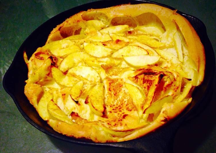 Steps to Prepare Homemade Panakuchen German Apple Pancake