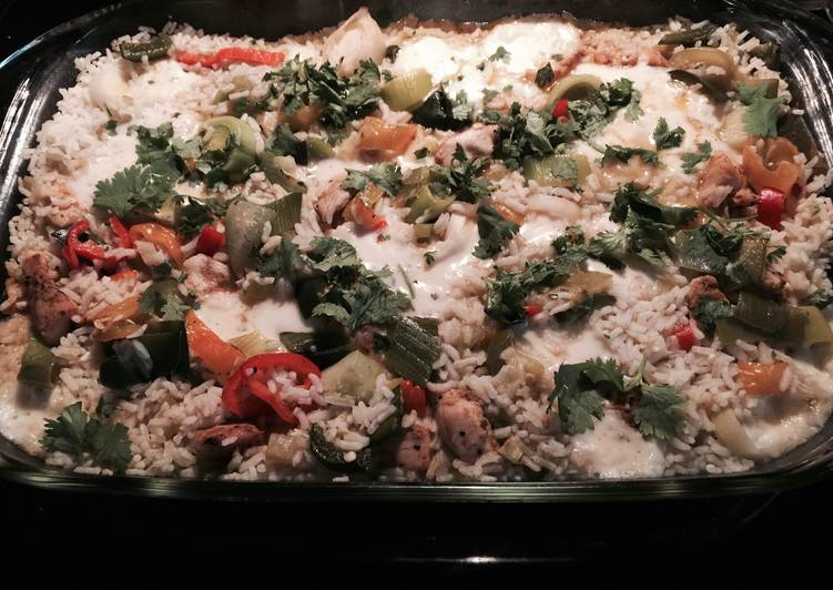 Quick and Easy 5 Pepper Chicken And Rice Casserole