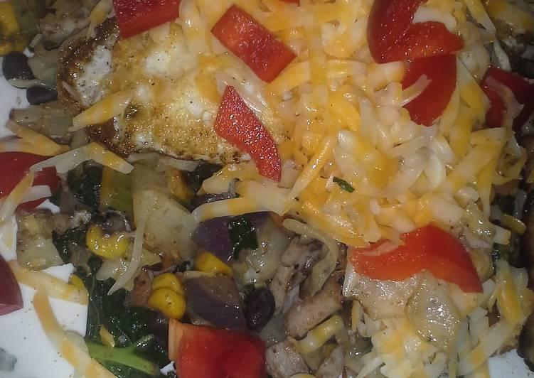 """Kale Veggie Breakfast """"Omelet"""""""
