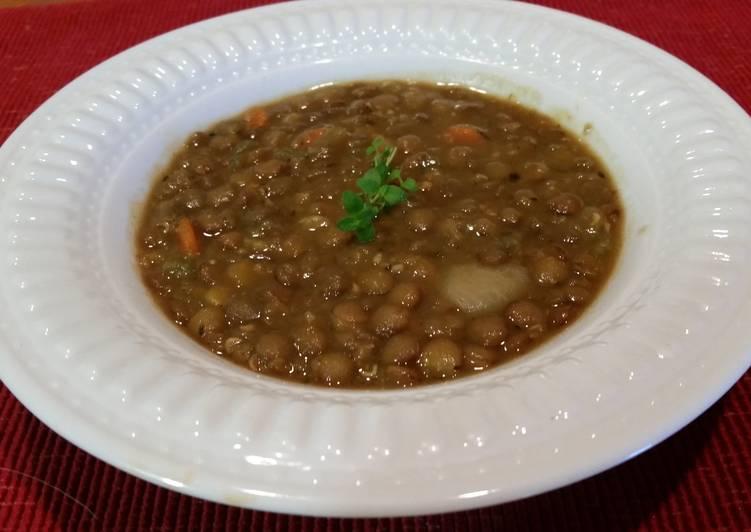 Recipe of Homemade Easy Lentil Soup