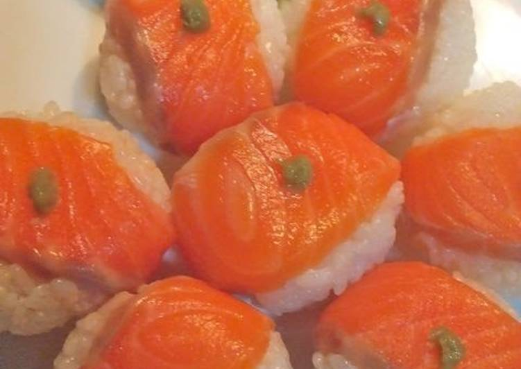Recipe of Salmon Temari Sushi Balls