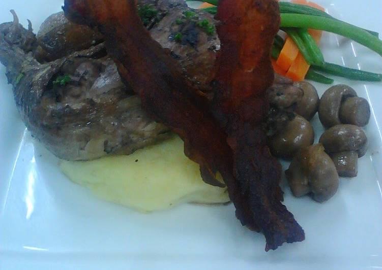 Pan -Grilled beef tenderloin
