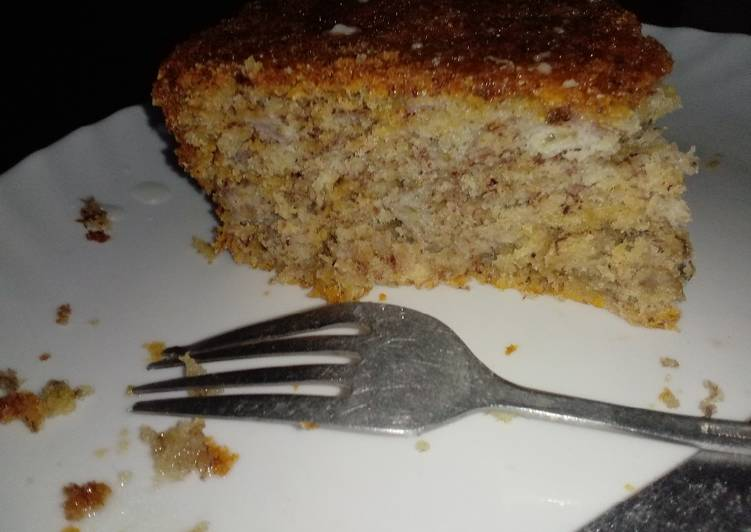 Step-by-Step Guide to Prepare Quick Egg less banana cake