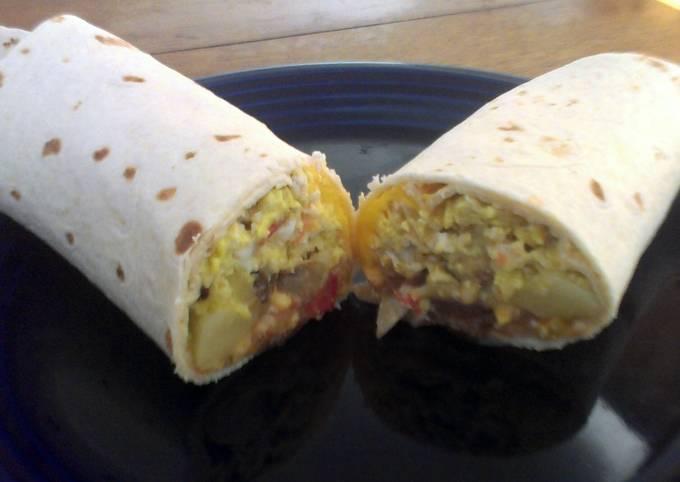 Chicken and Potato Breakfast Burritos