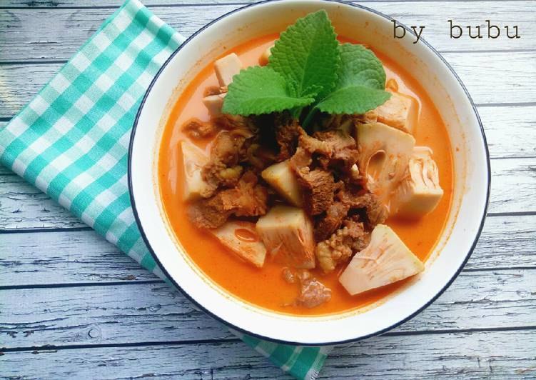 Resep Gulai nangka daging sapi Yang Populer Enak