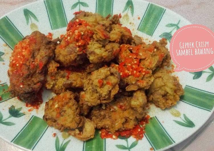 Ayam Geprek Sambel Bawang (Geprek Crispy)