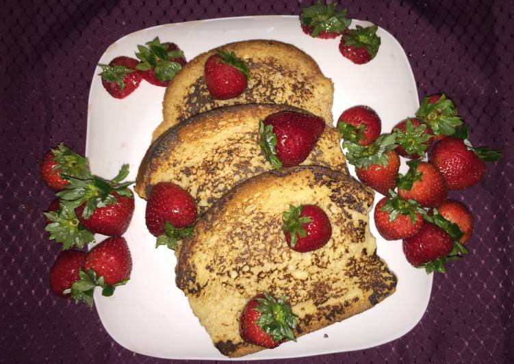 Recipe of Ultimate Cinnamon French Toast With Strawberries