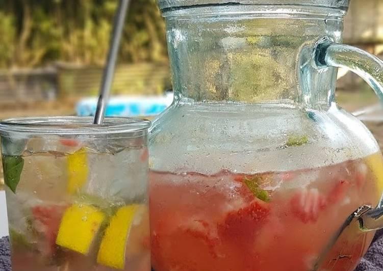 Watermelon & Strawberry Mocktail