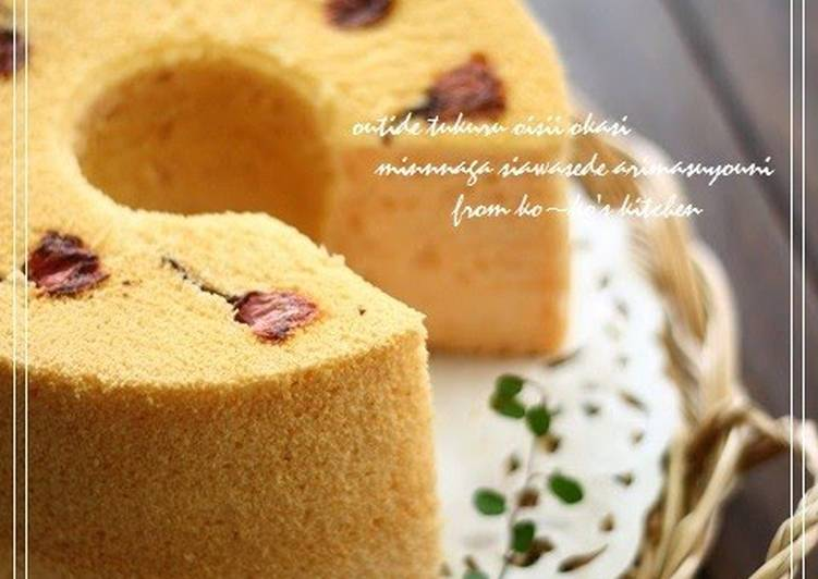Easiest Way to Prepare Speedy Sakura-Flavored Chiffon Cake