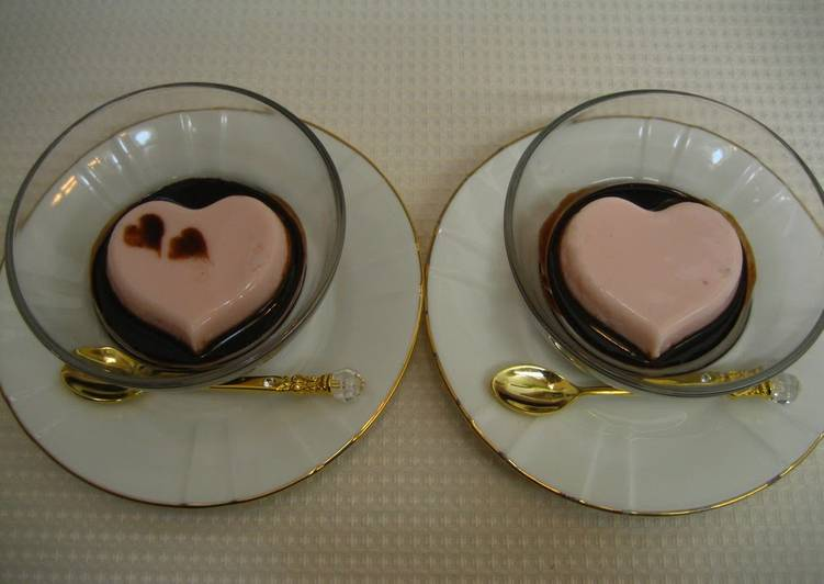 Step-by-Step Guide to Make Super Quick Homemade Couple's Pink Heart Gelatin Dessert For Valentine's Day