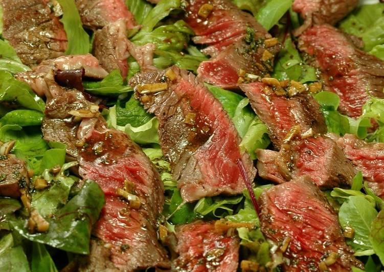 Tagliata (Thin Sliced) Beef Steak Salad