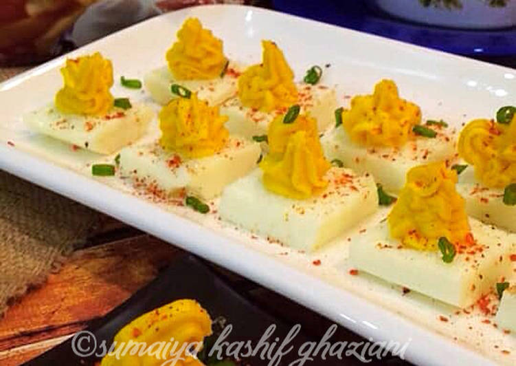Easiest Way to Make Homemade Square Devil Eggs #CookpadSehri