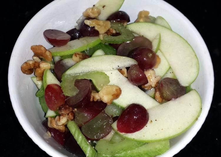 Apple, celery, and grape salad