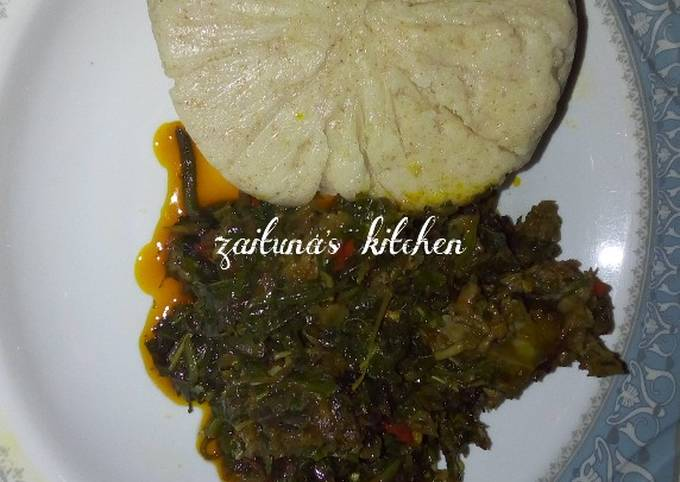 Golden vita with vegetable soup