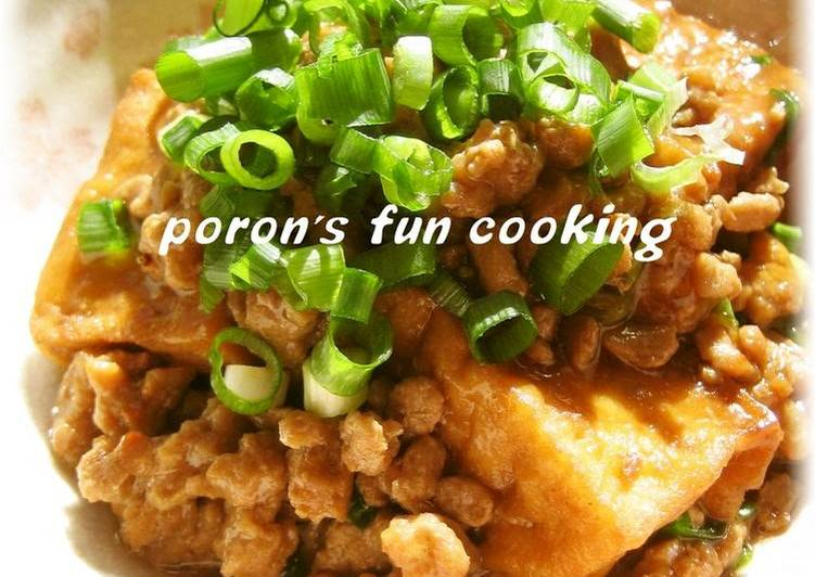 Picking The Right Foods Can Help You Stay Fit And Also Healthy Atsuage and Ground Pork in Sweet and Spicy Sukiyaki Sauce