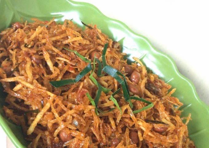Kentang Mustofa / Kentang Balado Crispy