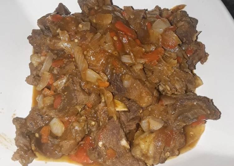 Recipe of Speedy Spicy goat meat