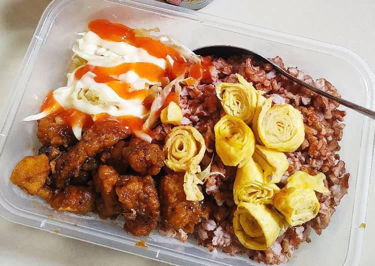 Nasi Merah Ayam Teriyaki Homemade (Tanpa Saus Instan)