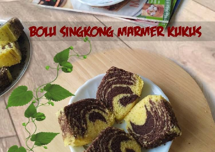 Bolu Singkong Marmer Kukus @dapur_kueku