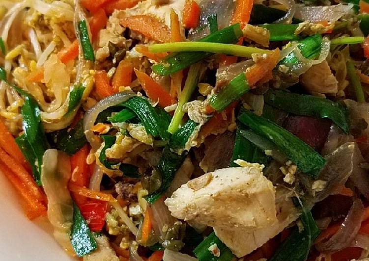 Recipe of Ultimate Sugar free Pad Thai with brown rice noodle