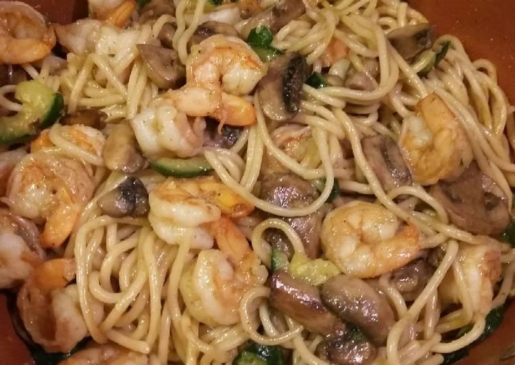 Shrimp and Vegetable Pasta