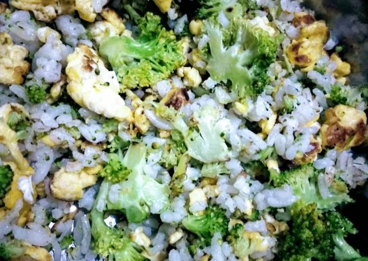 Resep 5. Nasi goreng brokoli (menu untuk si kecil), Menggugah Selera