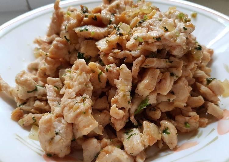 Stir Fry Fresh Coriander Chicken