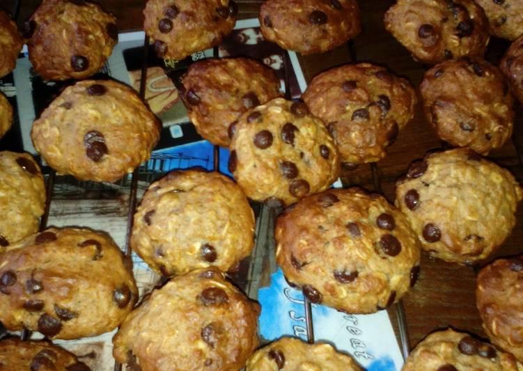 Cookies de copos de avena con naranja, miel y pepitas dechocolate