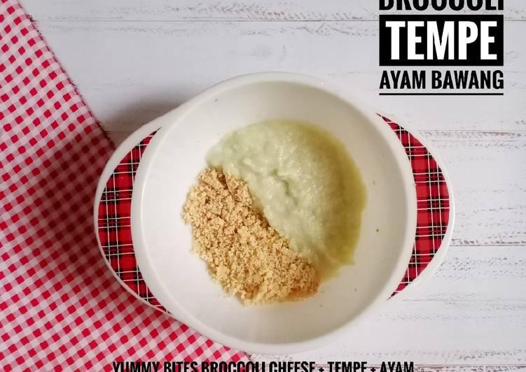 Resep MPASI 6 bulan – yummy bites tempe ayam bawang