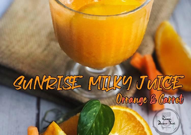 Sunrise Milky Juice (Campuran oren sunquick dan lobak merah) - resepipouler.com