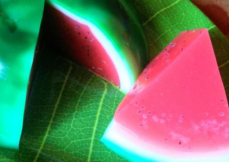 Puding Semangka simple