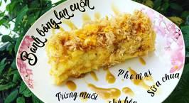 Hình ảnh món Bánh bông lan cuộn trứng muối chà bông phomai sữa chua
