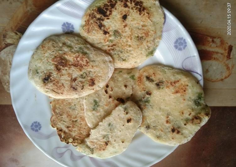 No Oil. Rice and Cucumber Pan Cake