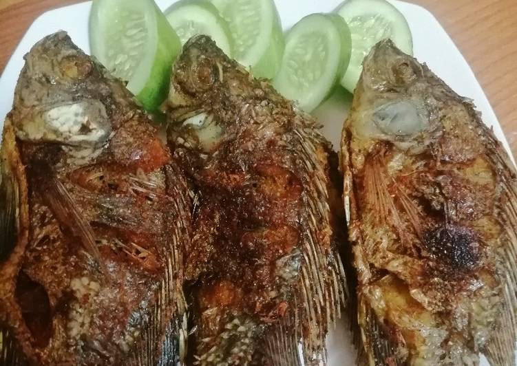Ikan mujaer goreng