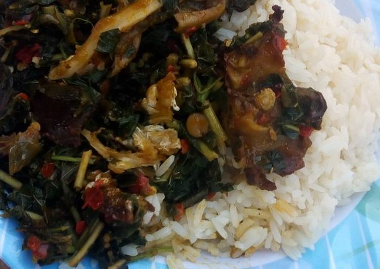 Recipe of Homemade White rice and vegetable soup