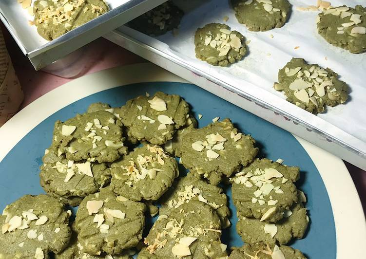 Matcha Almond Cookies (Easy peasy lemon squeezy 👩‍🍳🤣🤣)