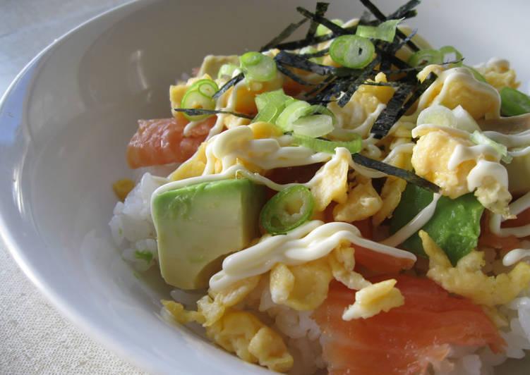 Smoked Salmon Chirashi-zushi