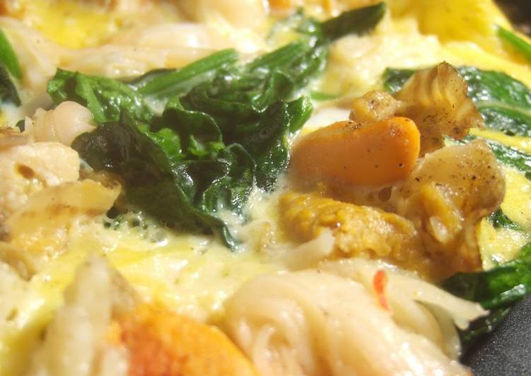 Steps to Prepare Speedy A Special Tamagoyaki with Scallops and Crabsticks