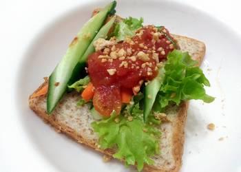 Easiest Way to Cook Delicious Vegan Salad Sandwich